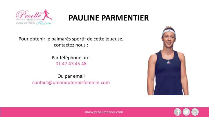 Pauline Parmentier Tennis Woman Pro