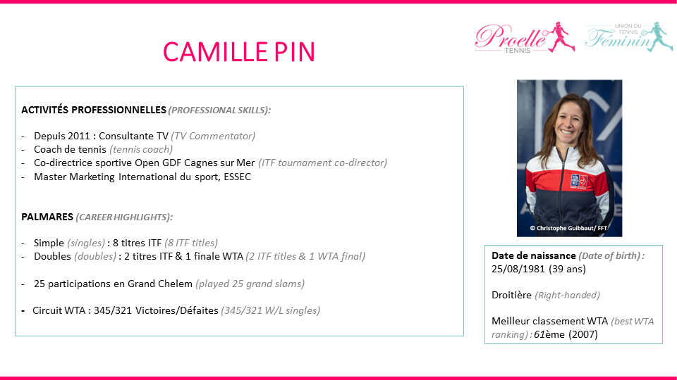 Camille Pin tennis pro
