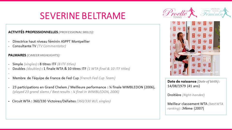 Séverine Beltrame tennis pro