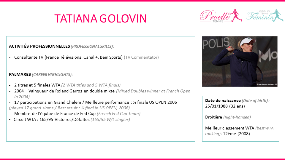 Tatiana Golovin tennis pro