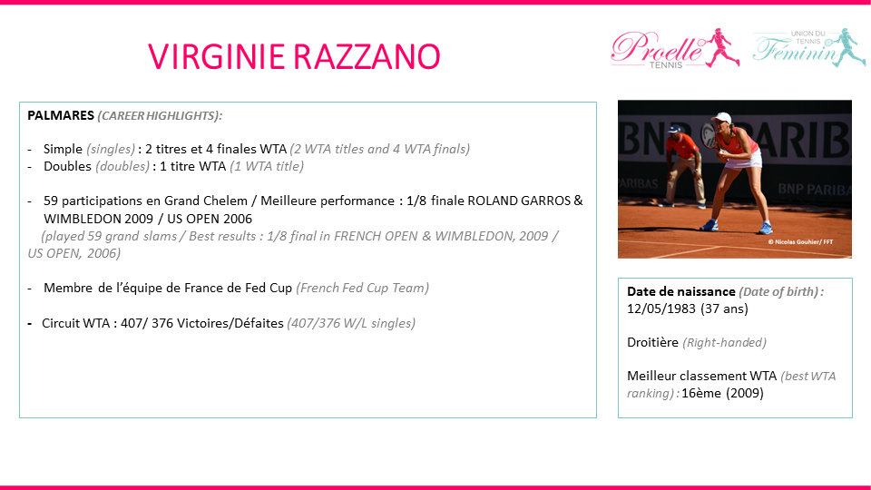 Virginie Razzano tennis pro
